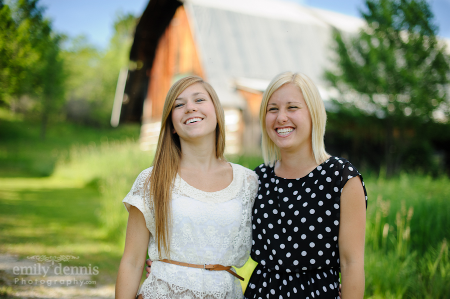 2013 L'Anse senior session with sister
