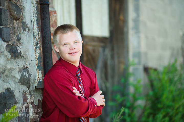 16 year old down syndrome portrait session